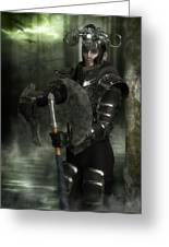 Warrior Of The Woods Greeting Card