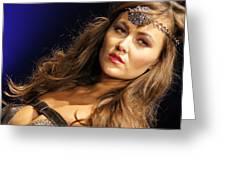 Warrior Woman 2 Greeting Card by DerekTXFactor Creative