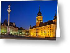 Warsaw By Night Greeting Card