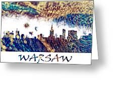 Warsaw Skyline Postcard Greeting Card
