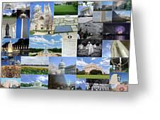 Washington D. C. Collage 2 Greeting Card