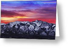 Wasatch Sunrise 2x1 Greeting Card by Chad Dutson