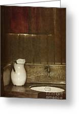 Wash Basin Greeting Card