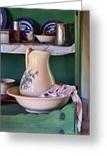 Wash Basin Still Life Greeting Card
