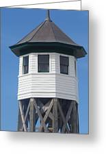 Wash Woods Coast Guard Tower Greeting Card