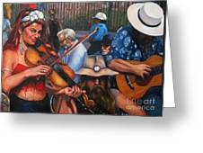 Washboard Lissa On Fiddle Greeting Card