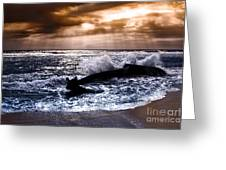 Washed Out To Sea - Outer Banks Greeting Card