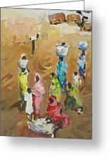 Washing Day Greeting Card by Negoud Dahab