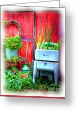 Washing Machine Art Greeting Card by Mel Steinhauer