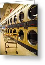 Washing Machines At Laundromat Greeting Card