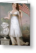 Washington & Liberty, C1810 Greeting Card