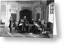 Washington And Lafayette Greeting Card