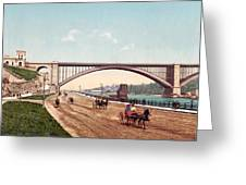 Washington Bridge 1901 Greeting Card