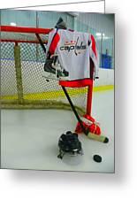 Washington Capitals Home Hockey Jersey Greeting Card
