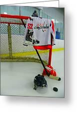 Washington Capitals Mike Green Away Hockey Jersey Greeting Card