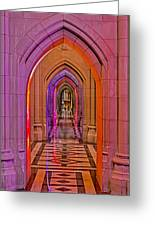 Washington Cathedral Light Show Greeting Card