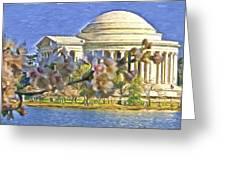 Washington Cherry Blossoms Greeting Card