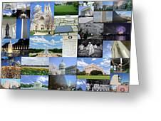 Washington D. C. Collage  Greeting Card