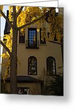 Washington D C Facades - Dupont Circle Neighborhood In Yellow Greeting Card