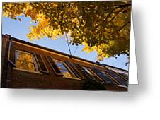 Washington D C Facades - Reflecting On Autumn In Georgetown  Greeting Card