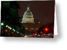 Washington Dc At Night Greeting Card