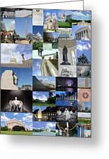 Washington D. C. Collage 3 Greeting Card