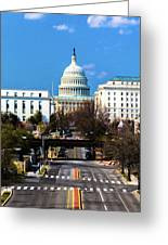 Washington D.c. - Elevated View Greeting Card