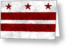 Washington D.c. Flag Greeting Card