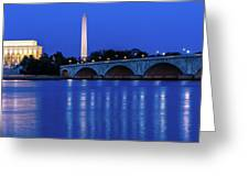 Washington D.c. - Memorial Bridge Greeting Card