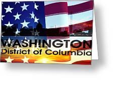 Washington Dc Patriotic Large Cityscape Greeting Card