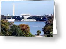 Washington Dc Skyline Greeting Card