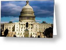 Washington D.c. - Storm Clouds Build Greeting Card