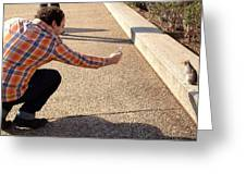 Washington Dc Tourists Love Squirrels Greeting Card