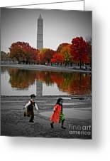 Washington Fall Children Greeting Card
