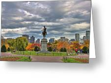 Washington In The Public Garden Greeting Card by Joann Vitali