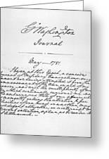Washington: Journal, 1781 Greeting Card