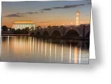 Washington Landmarks At Dawn I Greeting Card