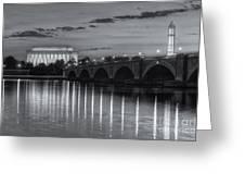 Washington Landmarks At Dawn II Greeting Card