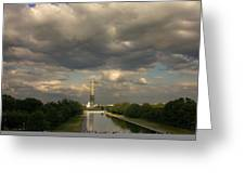 Washington Monument And Capitol Greeting Card