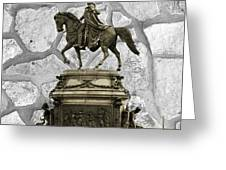 Washington Monument At Eakins Oval Greeting Card