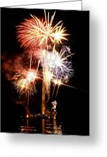 Washington Monument Fireworks 2 Greeting Card by Stuart Litoff