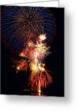 Washington Monument Fireworks 3 Greeting Card by Stuart Litoff