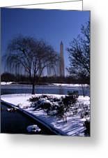 Washington Monument Winter  Greeting Card