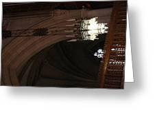 Washington National Cathedral - Washington Dc - 0113103 Greeting Card by DC Photographer