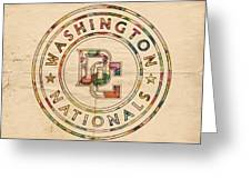 Washington Nationals Poster Vintage Greeting Card