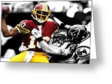 Washington Redskins Rg3 Greeting Card