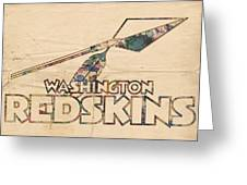 Washington Redskins Vintage Logo Greeting Card by Florian Rodarte