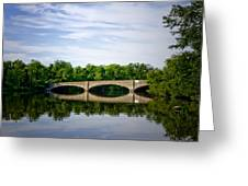 Washington Road Bridge Over Lake Carnegie Princeton Greeting Card