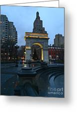 Washington Square In New York At Dusk Greeting Card