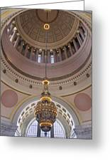 Washington State Capitol Building Chandelier Closeup Greeting Card